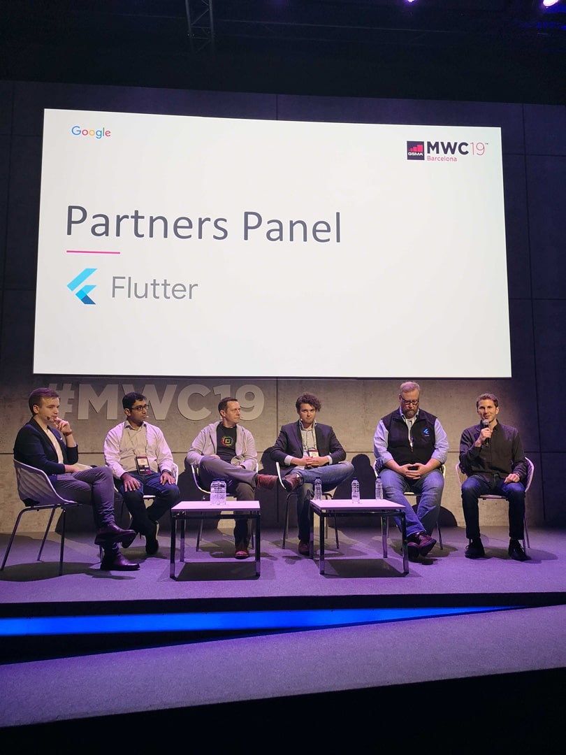Flutter panel with partners