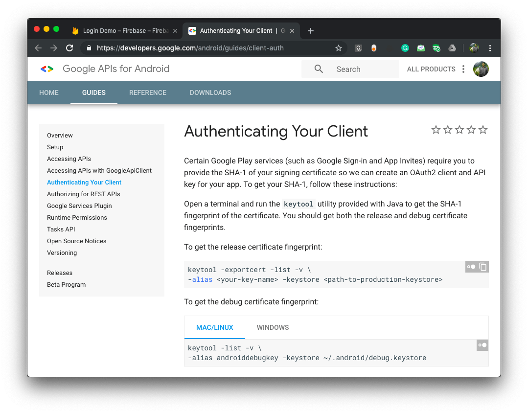 Authenticating Your Client