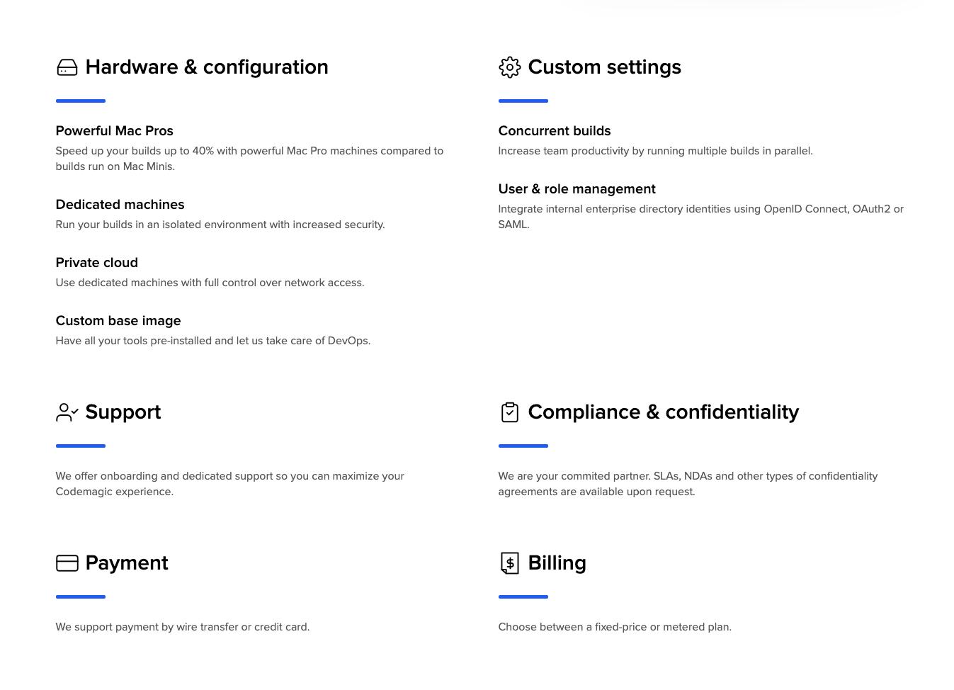 Codemagic enterprise page