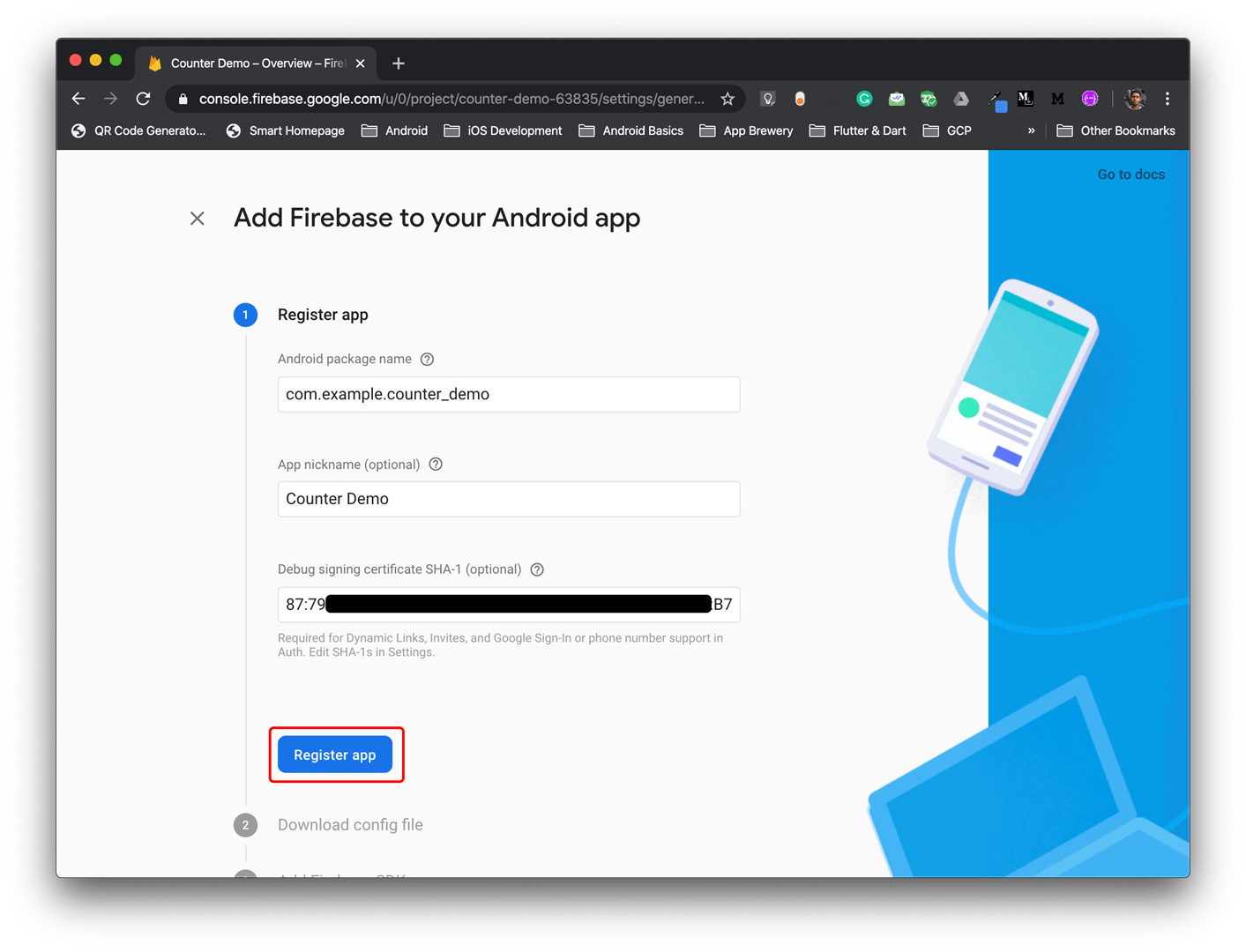 Firebase Android project