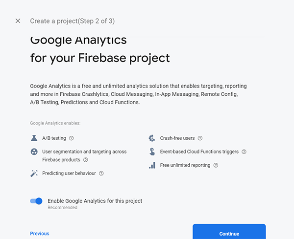 Google Analytics for Firebase