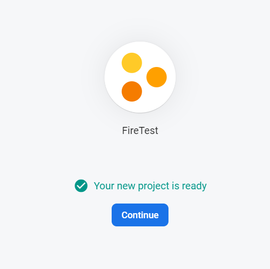 Our Firebase project is good to go