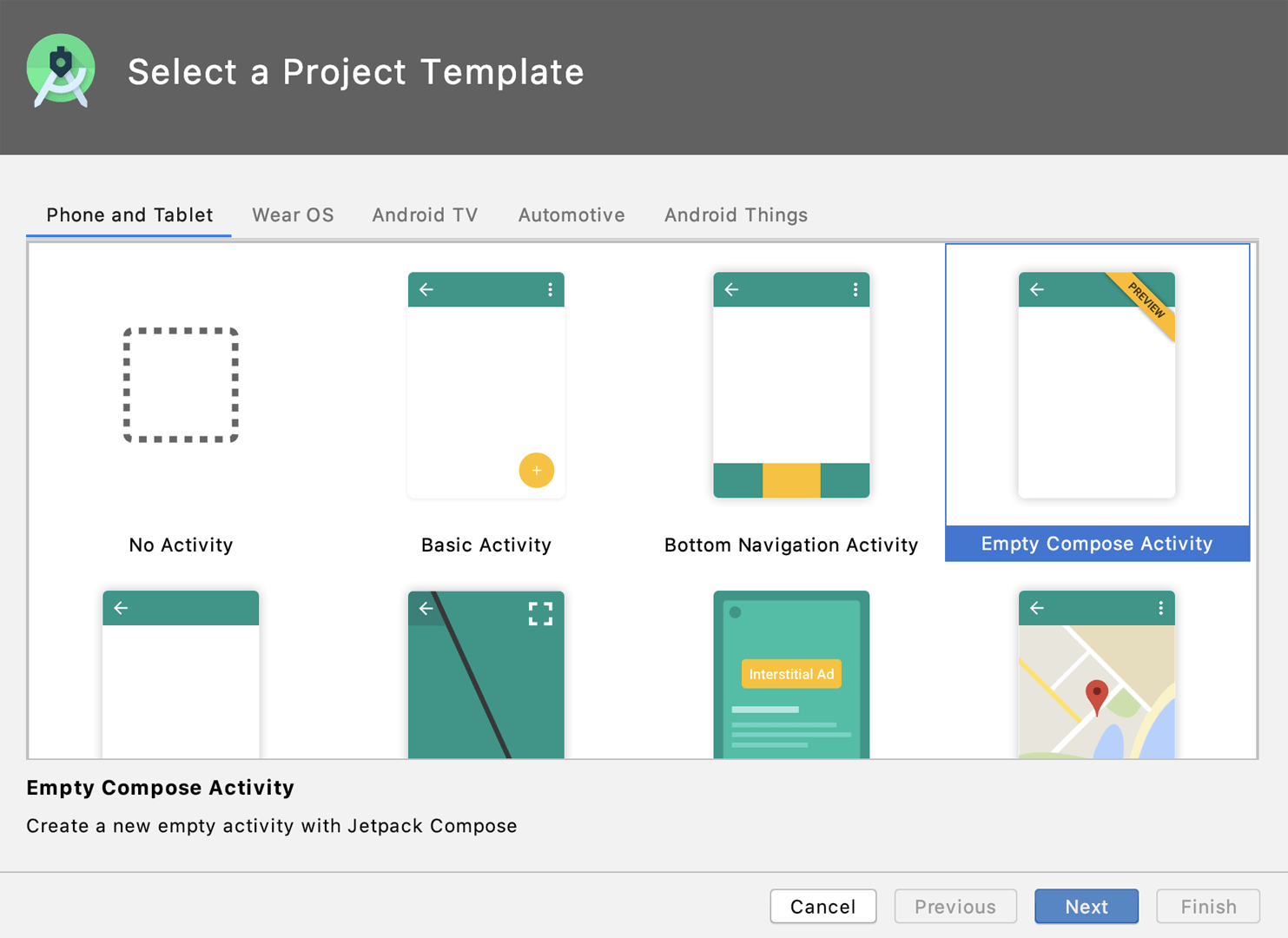Application project template