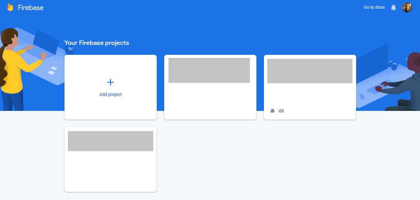 Add new project to Firebase