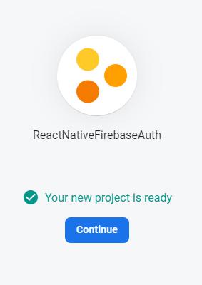 Firebase + React Native authentication