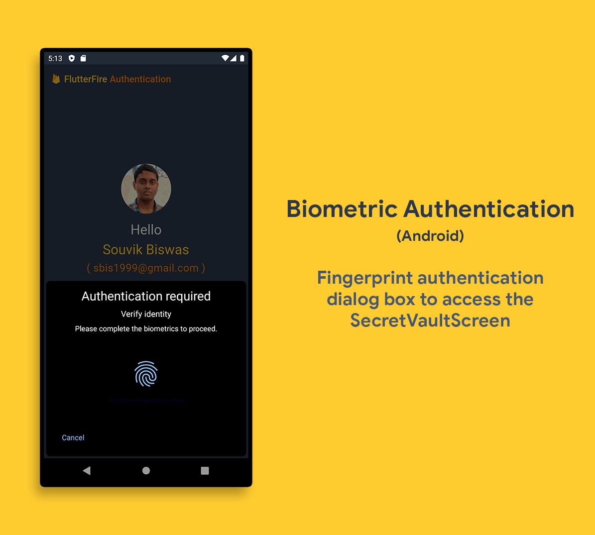 Fingerprint Authentication (Android)