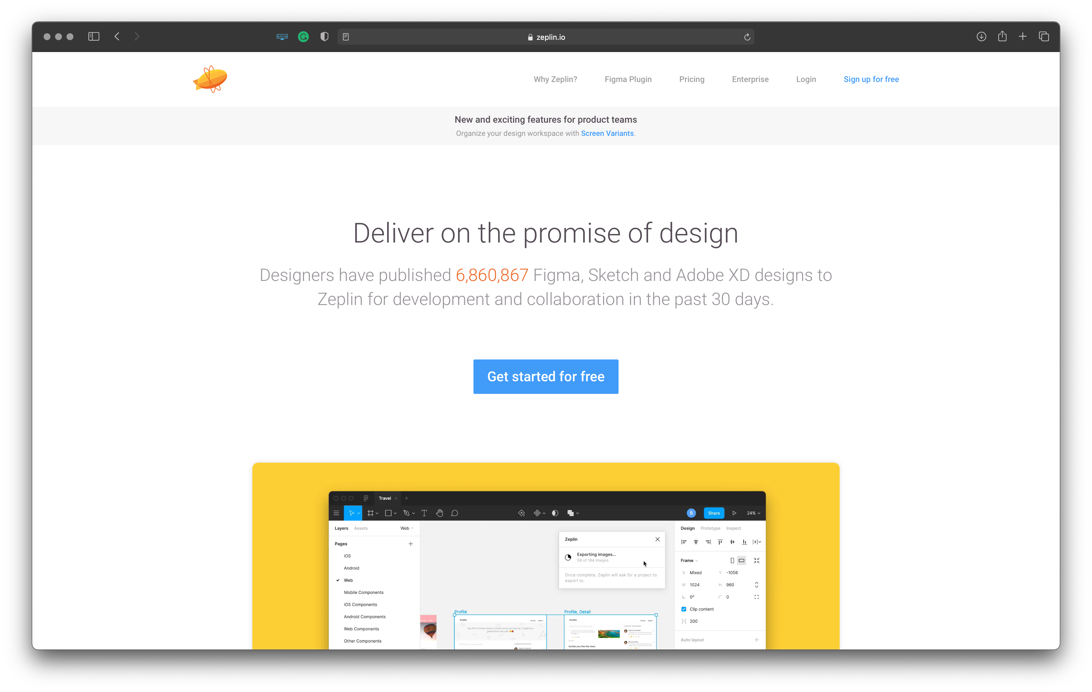Best tools for iOS developers: Zeplin – helps to generate assets, design specs and code snippets from design