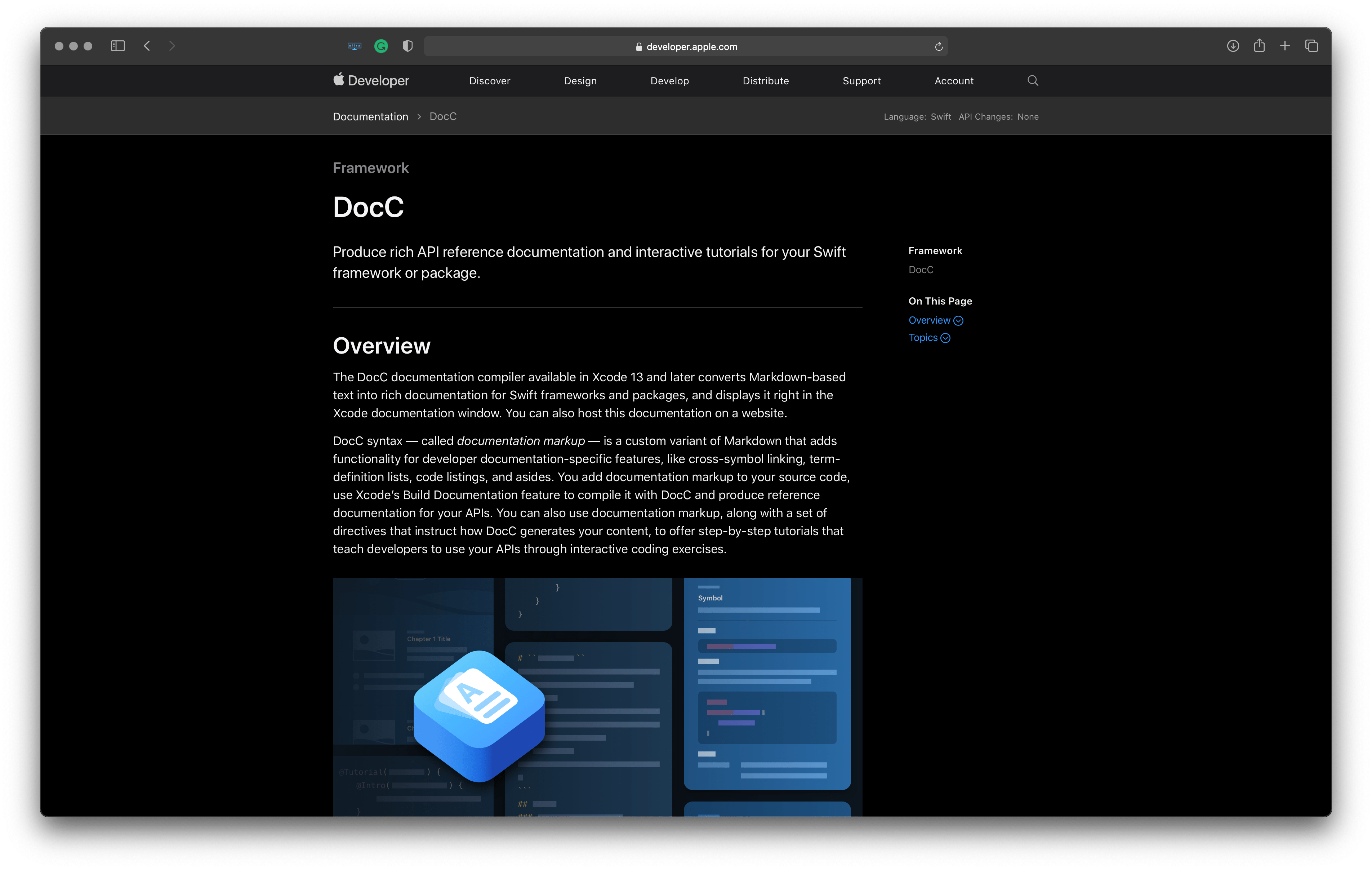 Best tools for iOS developers: DocC – for producing documentation for your Swift frameworks and packages