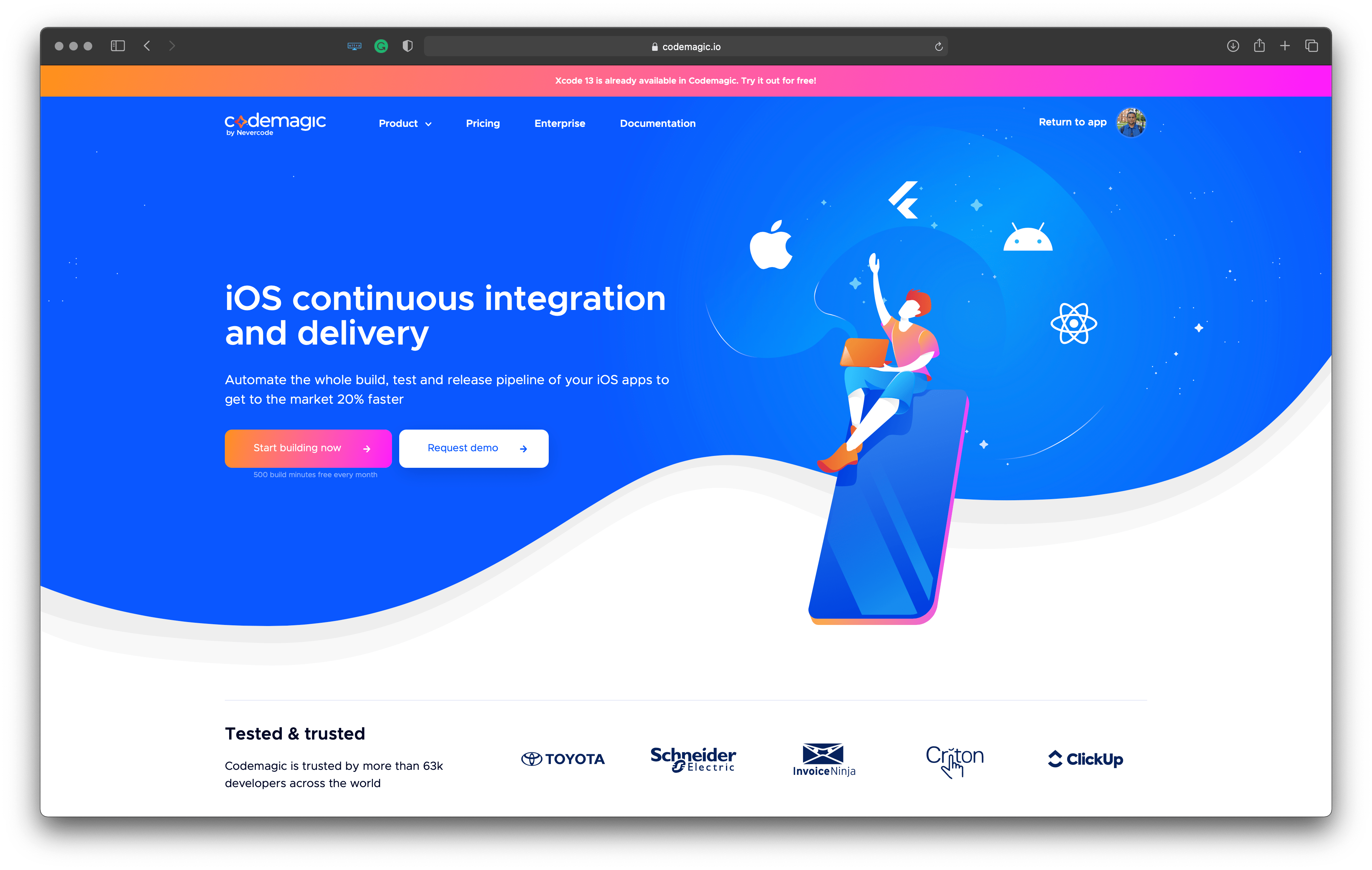 Best tools for iOS developers: Codemagic – to automate the whole build, test and release pipeline of your iOS apps