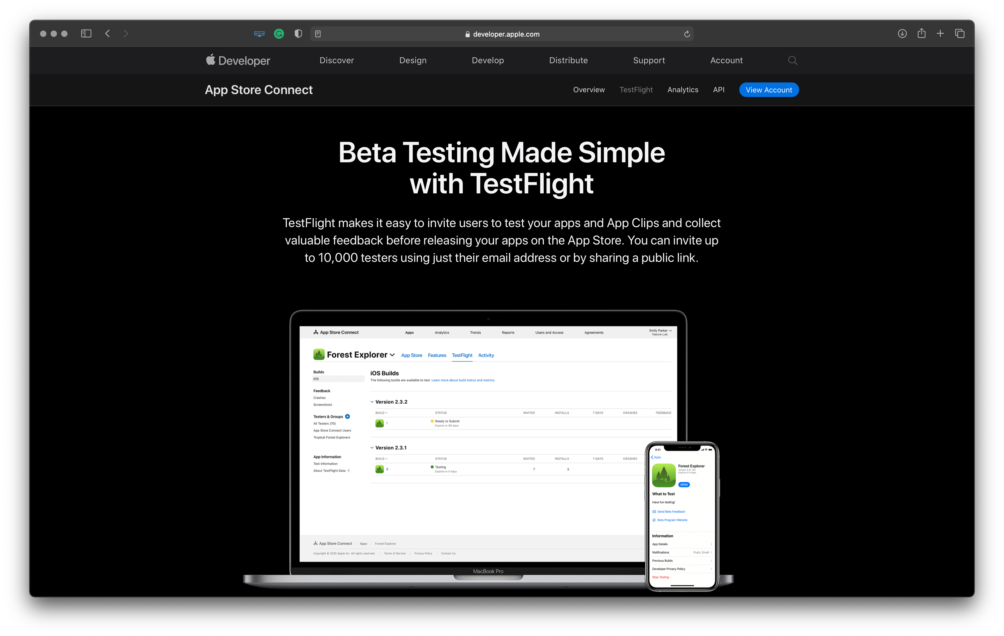 Best tools for Apple platforms developers: testflight – makes it easy to invite users to test your apps and collect feedback