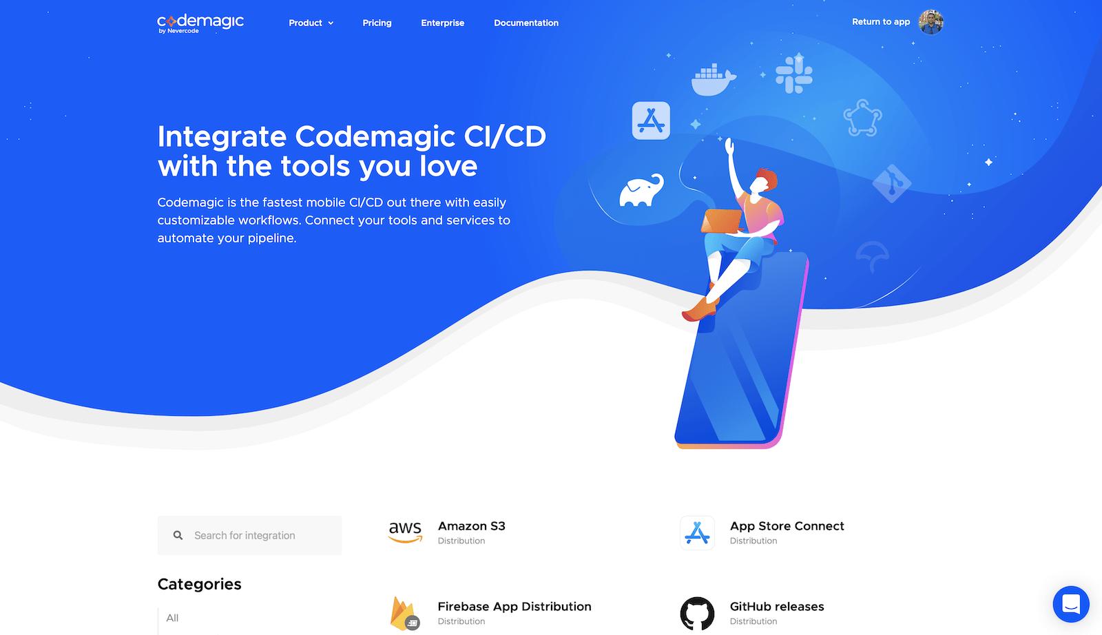 Codemagic running: Build in Progress