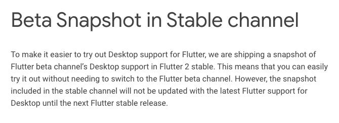 Flutter Docs: Desktop